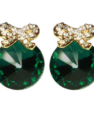collectif_emerald_diamond_bow_earrings_front