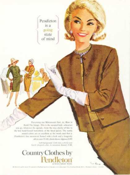 60er Jahre Damenmode Werbeplakat